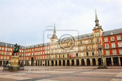 Постер Мадрид Plaza Mayor, Мадрид, ИспанияМадрид<br>Постер на холсте или бумаге. Любого нужного вам размера. В раме или без. Подвес в комплекте. Трехслойная надежная упаковка. Доставим в любую точку России. Вам осталось только повесить картину на стену!<br>