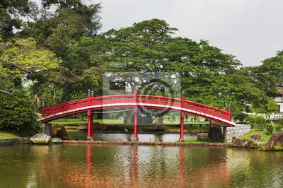 Постер Сингапур Японский сад в СингапуреСингапур<br>Постер на холсте или бумаге. Любого нужного вам размера. В раме или без. Подвес в комплекте. Трехслойная надежная упаковка. Доставим в любую точку России. Вам осталось только повесить картину на стену!<br>