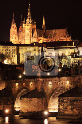 Постер Прага Прага готический Замок с Карлов Мост в НочиПрага<br>Постер на холсте или бумаге. Любого нужного вам размера. В раме или без. Подвес в комплекте. Трехслойная надежная упаковка. Доставим в любую точку России. Вам осталось только повесить картину на стену!<br>