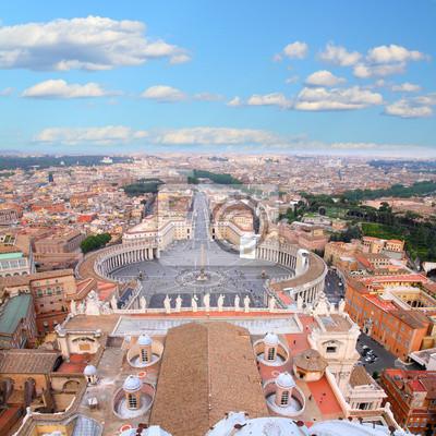 Постер Ватикан Ватикан и Рим - вид с воздухаВатикан<br>Постер на холсте или бумаге. Любого нужного вам размера. В раме или без. Подвес в комплекте. Трехслойная надежная упаковка. Доставим в любую точку России. Вам осталось только повесить картину на стену!<br>