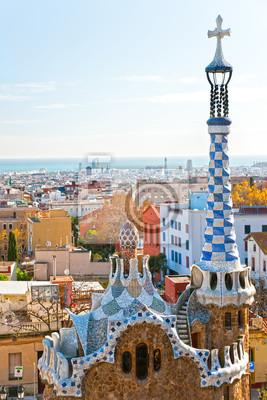 Постер Испания Парк Гуэль в Барселоне, Испания.Испания<br>Постер на холсте или бумаге. Любого нужного вам размера. В раме или без. Подвес в комплекте. Трехслойная надежная упаковка. Доставим в любую точку России. Вам осталось только повесить картину на стену!<br>