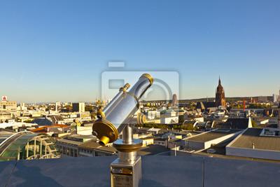 Телескоп на платформе с видом на Франкфурт, 30x20 см, на бумагеФранкфурт<br>Постер на холсте или бумаге. Любого нужного вам размера. В раме или без. Подвес в комплекте. Трехслойная надежная упаковка. Доставим в любую точку России. Вам осталось только повесить картину на стену!<br>