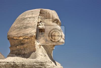 Постер Архитектура Профиль Великого Сфинкса в Гизе, Египет, 30x20 см, на бумагеСфинксы<br>Постер на холсте или бумаге. Любого нужного вам размера. В раме или без. Подвес в комплекте. Трехслойная надежная упаковка. Доставим в любую точку России. Вам осталось только повесить картину на стену!<br>