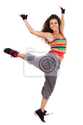 Постер Деятельность Современный slim стиле хип-хоп женщина танцор, 20x30 см, на бумагеТанец<br>Постер на холсте или бумаге. Любого нужного вам размера. В раме или без. Подвес в комплекте. Трехслойная надежная упаковка. Доставим в любую точку России. Вам осталось только повесить картину на стену!<br>