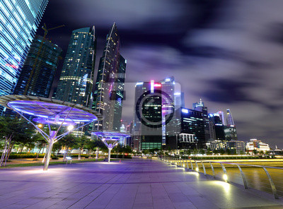 Постер Сингапур Ночная сцена, СингапурСингапур<br>Постер на холсте или бумаге. Любого нужного вам размера. В раме или без. Подвес в комплекте. Трехслойная надежная упаковка. Доставим в любую точку России. Вам осталось только повесить картину на стену!<br>