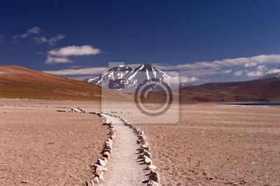 Постер Пейзаж песчаный Вулканы в пустыне АтакамаПейзаж песчаный<br>Постер на холсте или бумаге. Любого нужного вам размера. В раме или без. Подвес в комплекте. Трехслойная надежная упаковка. Доставим в любую точку России. Вам осталось только повесить картину на стену!<br>