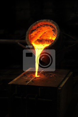 Литейно - расплавленный металл, налил из ковша в кристаллизатор, 20x30 см, на бумагеМеталлургия<br>Постер на холсте или бумаге. Любого нужного вам размера. В раме или без. Подвес в комплекте. Трехслойная надежная упаковка. Доставим в любую точку России. Вам осталось только повесить картину на стену!<br>
