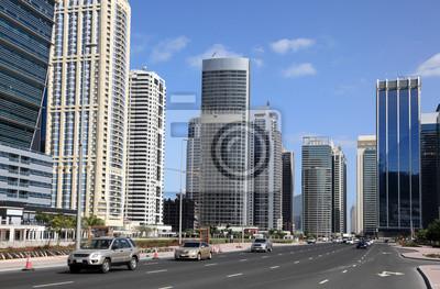 Постер Дубай Улица, на Jumeirah Lakes Towers в Дубае, ОАЭДубай<br>Постер на холсте или бумаге. Любого нужного вам размера. В раме или без. Подвес в комплекте. Трехслойная надежная упаковка. Доставим в любую точку России. Вам осталось только повесить картину на стену!<br>