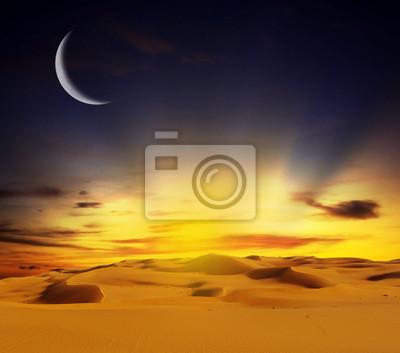Постер Пейзаж песчаный Песчаная пустыня на закате времениПейзаж песчаный<br>Постер на холсте или бумаге. Любого нужного вам размера. В раме или без. Подвес в комплекте. Трехслойная надежная упаковка. Доставим в любую точку России. Вам осталось только повесить картину на стену!<br>