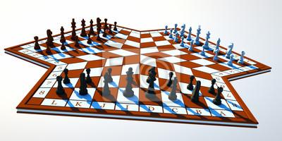 Постер Шахматы Втроем шахматыШахматы<br>Постер на холсте или бумаге. Любого нужного вам размера. В раме или без. Подвес в комплекте. Трехслойная надежная упаковка. Доставим в любую точку России. Вам осталось только повесить картину на стену!<br>