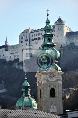 Постер Зальцбург Зальцбург церковной колокольни, АвстрияЗальцбург<br>Постер на холсте или бумаге. Любого нужного вам размера. В раме или без. Подвес в комплекте. Трехслойная надежная упаковка. Доставим в любую точку России. Вам осталось только повесить картину на стену!<br>