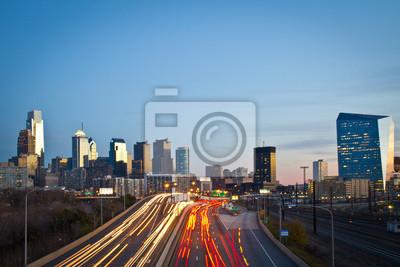 """Постер Филадельфия """"Филадельфия Skyline"""" от Artwall"""