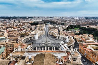 Постер Ватикан Площадь Святого Петра в Ватикане, в Риме,Ватикан<br>Постер на холсте или бумаге. Любого нужного вам размера. В раме или без. Подвес в комплекте. Трехслойная надежная упаковка. Доставим в любую точку России. Вам осталось только повесить картину на стену!<br>