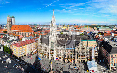 Постер Мюнхен Вид с воздуха на Munich city center от башни ПитМюнхен<br>Постер на холсте или бумаге. Любого нужного вам размера. В раме или без. Подвес в комплекте. Трехслойная надежная упаковка. Доставим в любую точку России. Вам осталось только повесить картину на стену!<br>