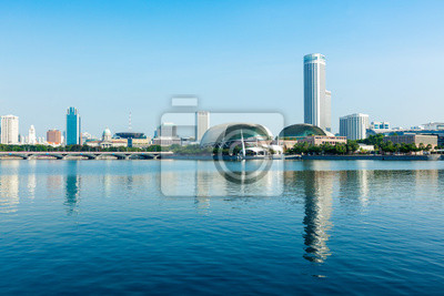 Постер Сингапур Сингапур skyline деньСингапур<br>Постер на холсте или бумаге. Любого нужного вам размера. В раме или без. Подвес в комплекте. Трехслойная надежная упаковка. Доставим в любую точку России. Вам осталось только повесить картину на стену!<br>