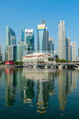 Постер Сингапур Небоскребы СингапурСингапур<br>Постер на холсте или бумаге. Любого нужного вам размера. В раме или без. Подвес в комплекте. Трехслойная надежная упаковка. Доставим в любую точку России. Вам осталось только повесить картину на стену!<br>
