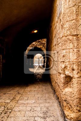 Постер Иерусалим Аллея в старом городе в Иерусалиме.Иерусалим<br>Постер на холсте или бумаге. Любого нужного вам размера. В раме или без. Подвес в комплекте. Трехслойная надежная упаковка. Доставим в любую точку России. Вам осталось только повесить картину на стену!<br>