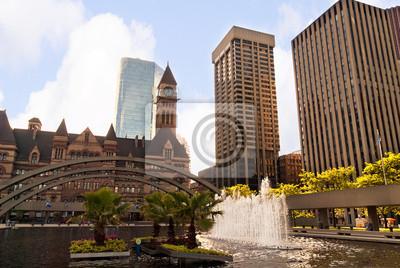 Постер Города и карты Городской пейзаж в Торонто, Канада, 30x20 см, на бумагеТоронто<br>Постер на холсте или бумаге. Любого нужного вам размера. В раме или без. Подвес в комплекте. Трехслойная надежная упаковка. Доставим в любую точку России. Вам осталось только повесить картину на стену!<br>