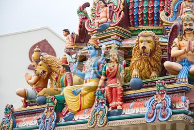 Постер Сингапур Индуистский храм в СингапуреСингапур<br>Постер на холсте или бумаге. Любого нужного вам размера. В раме или без. Подвес в комплекте. Трехслойная надежная упаковка. Доставим в любую точку России. Вам осталось только повесить картину на стену!<br>