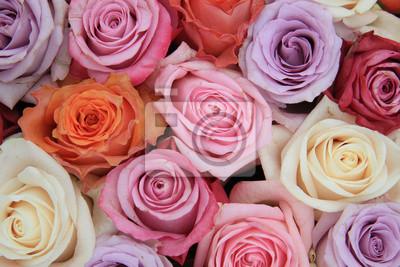 Пастельные поднялся свадебные цветы, 30x20 см, на бумагеРозы<br>Постер на холсте или бумаге. Любого нужного вам размера. В раме или без. Подвес в комплекте. Трехслойная надежная упаковка. Доставим в любую точку России. Вам осталось только повесить картину на стену!<br>