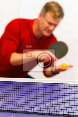 Молодой человек, играя в Настольный теннис, 20x30 см, на бумагеНастольный теннис<br>Постер на холсте или бумаге. Любого нужного вам размера. В раме или без. Подвес в комплекте. Трехслойная надежная упаковка. Доставим в любую точку России. Вам осталось только повесить картину на стену!<br>