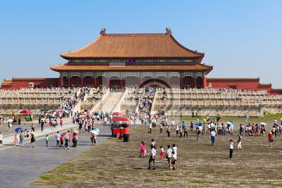 Постер Пекин Императорский дворец Китая. Пекин.Пекин<br>Постер на холсте или бумаге. Любого нужного вам размера. В раме или без. Подвес в комплекте. Трехслойная надежная упаковка. Доставим в любую точку России. Вам осталось только повесить картину на стену!<br>