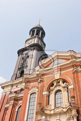 Постер Гамбург Церковь Св.Гамбург<br>Постер на холсте или бумаге. Любого нужного вам размера. В раме или без. Подвес в комплекте. Трехслойная надежная упаковка. Доставим в любую точку России. Вам осталось только повесить картину на стену!<br>