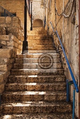 Постер Израиль Каменная Лестница В ЦфатаИзраиль<br>Постер на холсте или бумаге. Любого нужного вам размера. В раме или без. Подвес в комплекте. Трехслойная надежная упаковка. Доставим в любую точку России. Вам осталось только повесить картину на стену!<br>