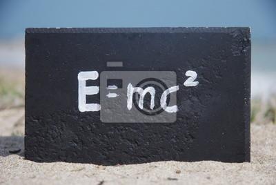 Постер Эквивалентности массы и энергииФормула Эйнштейна<br>Постер на холсте или бумаге. Любого нужного вам размера. В раме или без. Подвес в комплекте. Трехслойная надежная упаковка. Доставим в любую точку России. Вам осталось только повесить картину на стену!<br>