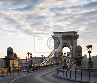 Постер Будапешт В Budapest Chain Bridge на рассвете.Будапешт<br>Постер на холсте или бумаге. Любого нужного вам размера. В раме или без. Подвес в комплекте. Трехслойная надежная упаковка. Доставим в любую точку России. Вам осталось только повесить картину на стену!<br>