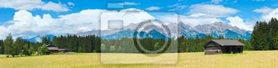 Постер Альпийский пейзаж Альпы летом панорама (Австрия).Альпийский пейзаж<br>Постер на холсте или бумаге. Любого нужного вам размера. В раме или без. Подвес в комплекте. Трехслойная надежная упаковка. Доставим в любую точку России. Вам осталось только повесить картину на стену!<br>