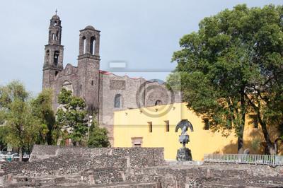 Постер Мехико Три Культуры-сквер, Мехико-СитиМехико<br>Постер на холсте или бумаге. Любого нужного вам размера. В раме или без. Подвес в комплекте. Трехслойная надежная упаковка. Доставим в любую точку России. Вам осталось только повесить картину на стену!<br>