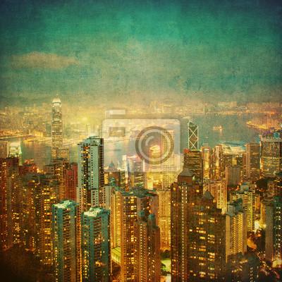 Постер Города и карты Винтаж образ Гонконг, 20x20 см, на бумагеГонконг<br>Постер на холсте или бумаге. Любого нужного вам размера. В раме или без. Подвес в комплекте. Трехслойная надежная упаковка. Доставим в любую точку России. Вам осталось только повесить картину на стену!<br>