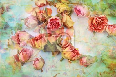 Постер Розы Сухие розы красивые винтаж фонаРозы<br>Постер на холсте или бумаге. Любого нужного вам размера. В раме или без. Подвес в комплекте. Трехслойная надежная упаковка. Доставим в любую точку России. Вам осталось только повесить картину на стену!<br>