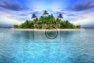 Постер Пейзаж морской Тропический остров МальдивПейзаж морской<br>Постер на холсте или бумаге. Любого нужного вам размера. В раме или без. Подвес в комплекте. Трехслойная надежная упаковка. Доставим в любую точку России. Вам осталось только повесить картину на стену!<br>