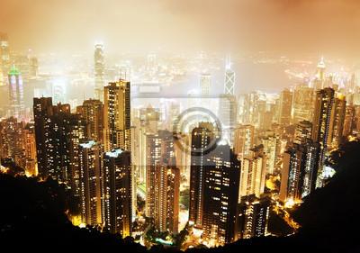 Постер Гонконг Остров Гонконг от Виктории Пик ночьюГонконг<br>Постер на холсте или бумаге. Любого нужного вам размера. В раме или без. Подвес в комплекте. Трехслойная надежная упаковка. Доставим в любую точку России. Вам осталось только повесить картину на стену!<br>