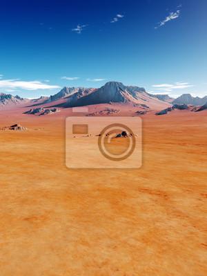 Постер Африканский пейзаж ПустыняАфриканский пейзаж<br>Постер на холсте или бумаге. Любого нужного вам размера. В раме или без. Подвес в комплекте. Трехслойная надежная упаковка. Доставим в любую точку России. Вам осталось только повесить картину на стену!<br>
