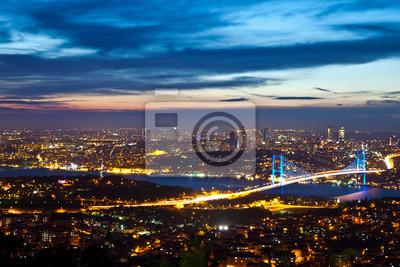 Постер Стамбул Босфорский Мост на ночь 7Стамбул<br>Постер на холсте или бумаге. Любого нужного вам размера. В раме или без. Подвес в комплекте. Трехслойная надежная упаковка. Доставим в любую точку России. Вам осталось только повесить картину на стену!<br>
