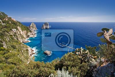 Постер Пейзаж морской Красивый морской пейзаж на остров Капри, ИталияПейзаж морской<br>Постер на холсте или бумаге. Любого нужного вам размера. В раме или без. Подвес в комплекте. Трехслойная надежная упаковка. Доставим в любую точку России. Вам осталось только повесить картину на стену!<br>