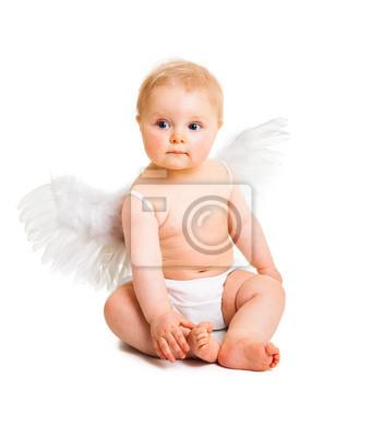 Милый младенец Ангел с крыльями, изолированных на белом, 20x23 см, на бумагеРелигия<br>Постер на холсте или бумаге. Любого нужного вам размера. В раме или без. Подвес в комплекте. Трехслойная надежная упаковка. Доставим в любую точку России. Вам осталось только повесить картину на стену!<br>