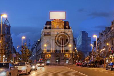 Постер Брюссель Place de Brouckere, Брюссель, БельгияБрюссель<br>Постер на холсте или бумаге. Любого нужного вам размера. В раме или без. Подвес в комплекте. Трехслойная надежная упаковка. Доставим в любую точку России. Вам осталось только повесить картину на стену!<br>
