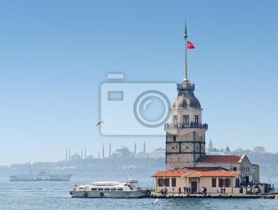 Постер Города и карты Девичья Башня в Стамбул, Турция, 26x20 см, на бумагеСтамбул<br>Постер на холсте или бумаге. Любого нужного вам размера. В раме или без. Подвес в комплекте. Трехслойная надежная упаковка. Доставим в любую точку России. Вам осталось только повесить картину на стену!<br>