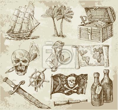 Постер Пиратский сборникПираты<br>Постер на холсте или бумаге. Любого нужного вам размера. В раме или без. Подвес в комплекте. Трехслойная надежная упаковка. Доставим в любую точку России. Вам осталось только повесить картину на стену!<br>