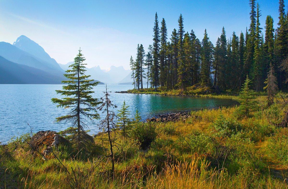 Постер Страны Природа пейзаж с горным озером, на рассвете, в провинции Альберта, Канада, 30x20 см, на бумагеКанада<br>Постер на холсте или бумаге. Любого нужного вам размера. В раме или без. Подвес в комплекте. Трехслойная надежная упаковка. Доставим в любую точку России. Вам осталось только повесить картину на стену!<br>