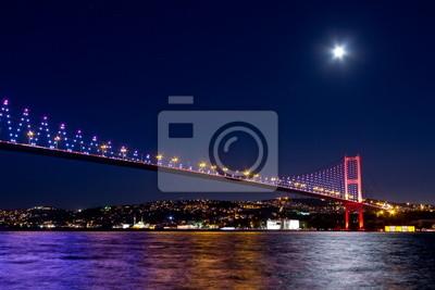 Постер Стамбул Ночная сцена Стамбул Босфор МостСтамбул<br>Постер на холсте или бумаге. Любого нужного вам размера. В раме или без. Подвес в комплекте. Трехслойная надежная упаковка. Доставим в любую точку России. Вам осталось только повесить картину на стену!<br>