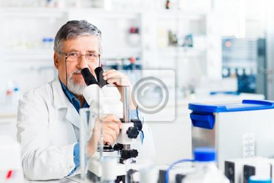 Постер Оформление офиса Старший мужчина исследователь проведение научных исследований в лаборатории, 30x20 см, на бумагеМедицина<br>Постер на холсте или бумаге. Любого нужного вам размера. В раме или без. Подвес в комплекте. Трехслойная надежная упаковка. Доставим в любую точку России. Вам осталось только повесить картину на стену!<br>