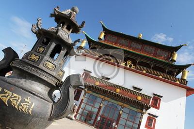 Монастырь Гандан за пределами главного храма, 30x20 см, на бумагеМонголия<br>Постер на холсте или бумаге. Любого нужного вам размера. В раме или без. Подвес в комплекте. Трехслойная надежная упаковка. Доставим в любую точку России. Вам осталось только повесить картину на стену!<br>