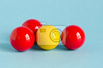Постер Бильярд Красный и желтый мяч БильярдБильярд<br>Постер на холсте или бумаге. Любого нужного вам размера. В раме или без. Подвес в комплекте. Трехслойная надежная упаковка. Доставим в любую точку России. Вам осталось только повесить картину на стену!<br>