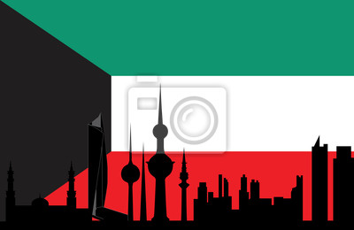 Постер Кувейт Кувейт skyline и флагКувейт<br>Постер на холсте или бумаге. Любого нужного вам размера. В раме или без. Подвес в комплекте. Трехслойная надежная упаковка. Доставим в любую точку России. Вам осталось только повесить картину на стену!<br>