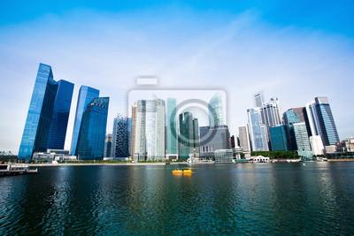 Постер Сингапур Небоскребы делового района Сингапура.Сингапур<br>Постер на холсте или бумаге. Любого нужного вам размера. В раме или без. Подвес в комплекте. Трехслойная надежная упаковка. Доставим в любую точку России. Вам осталось только повесить картину на стену!<br>